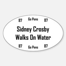 Crosby Walks On Water Sticker (Oval)