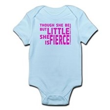 She is Fierce - Stamped Pink Infant Bodysuit