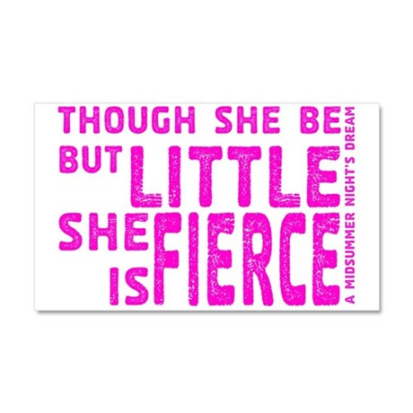 She is Fierce - Stamped Pink Car Magnet 20 x 12