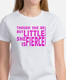 She is Fierce - Stamped Pink Tee