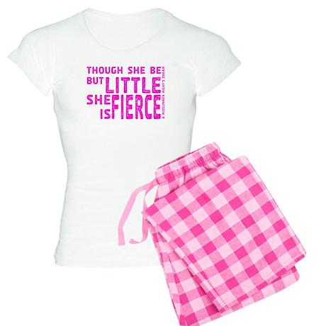 She is Fierce - Stamped Pink Women's Light Pajamas
