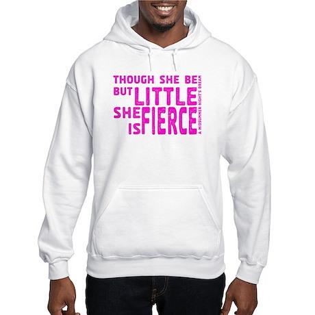 She is Fierce - Stamped Pink Hooded Sweatshirt