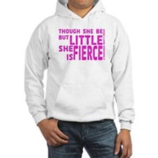She is Fierce - Stamped Pink Hoodie