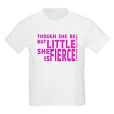 She is Fierce - Stamped Pink T-Shirt