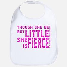 She is Fierce - Stamped Pink Bib