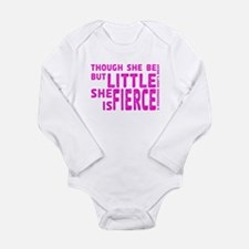 She is Fierce - Stamped Pink Long Sleeve Infant Bo