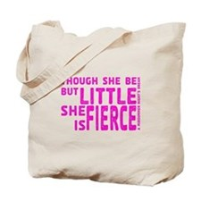 She is Fierce - Stamped Pink Tote Bag