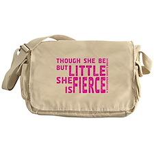 She is Fierce - Stamped Pink Messenger Bag