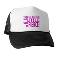 She is Fierce - Stamped Pink Trucker Hat