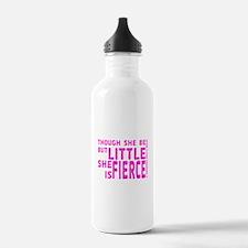 She is Fierce - Stamped Pink Water Bottle