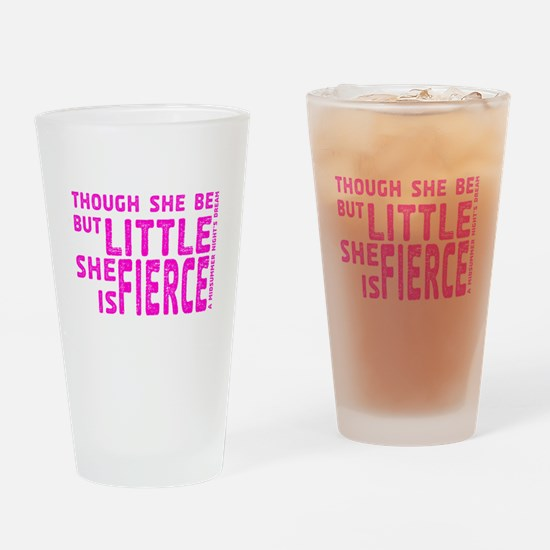 She is Fierce - Stamped Pink Drinking Glass