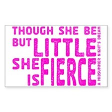 She is Fierce - Stamped Pink Decal