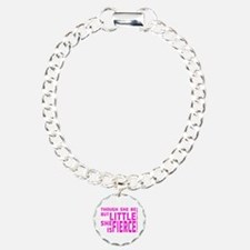 She is Fierce - Stamped Pink Bracelet