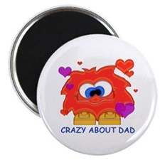 "Crazy About Dad 2.25"" Magnet (10 pack)"
