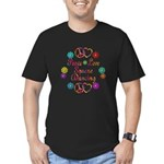 Love Square Dancing Men's Fitted T-Shirt (dark)