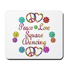 Love Square Dancing Mousepad