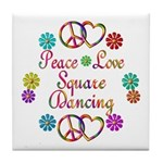 Love Square Dancing Tile Coaster