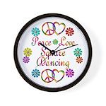 Love Square Dancing Wall Clock