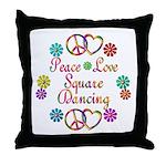 Love Square Dancing Throw Pillow