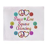 Love Square Dancing Throw Blanket
