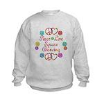 Love Square Dancing Kids Sweatshirt
