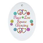 Love Square Dancing Ornament (Oval)