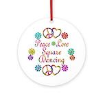 Love Square Dancing Ornament (Round)