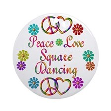 Love Square Dancing Ornament (Round)