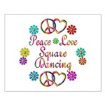 Love Square Dancing Small Poster