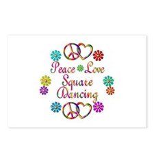 Love Square Dancing Postcards (Package of 8)