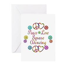 Love Square Dancing Greeting Cards (Pk of 20)