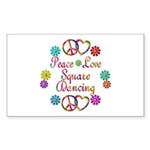 Love Square Dancing Sticker (Rectangle)