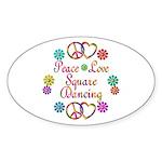 Love Square Dancing Sticker (Oval)