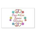 Love Square Dancing Sticker (Rectangle 10 pk)