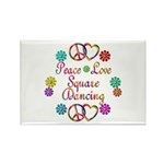 Love Square Dancing Rectangle Magnet (10 pack)