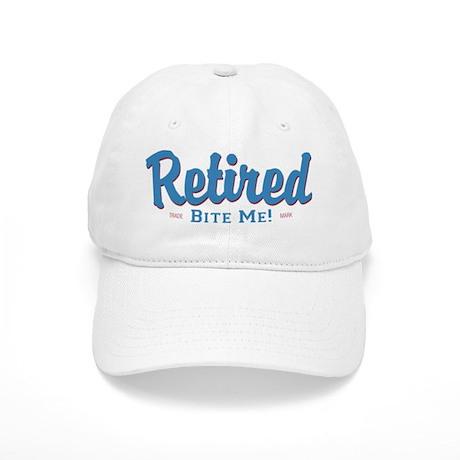 Funny Retired Bite Me Retirement Cap