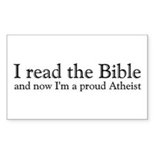I Read The Bible, Now I'm An Atheist Decal