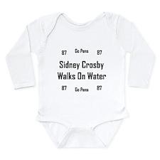 Crosby Walks On Water Long Sleeve Infant Bodysuit