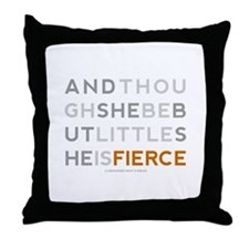She is Fierce - Block Throw Pillow