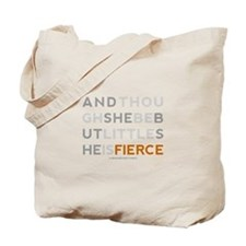 She is Fierce - Block Tote Bag