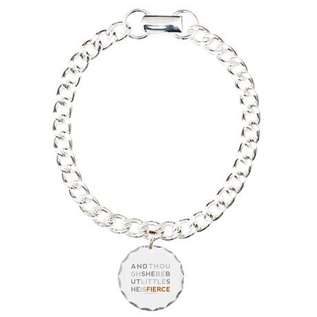 She is Fierce - Block Charm Bracelet, One Charm