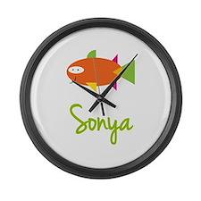 Sonya is a Big Fish Large Wall Clock