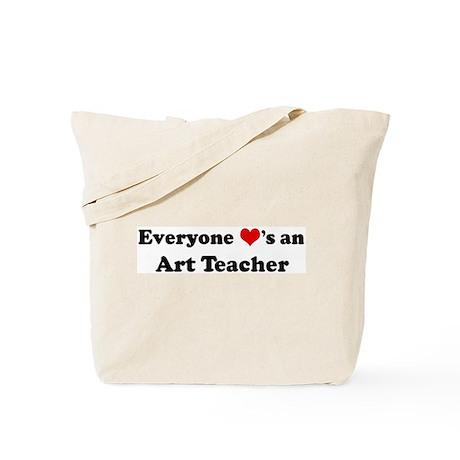 Loves a Art Teacher Tote Bag