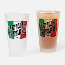 I'M NOT YELLING (Generic) Drinking Glass