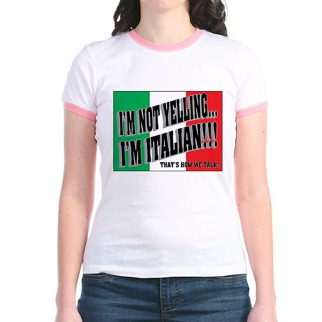 I'M NOT YELLING (Generic) Jr. Ringer T-Shirt