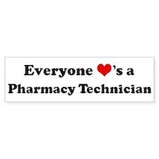 Loves a Pharmacy Technician Bumper Bumper Sticker
