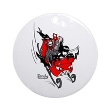Emily the Sleigher Ornament (Round)