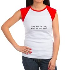 I make people 3 at a time Women's Cap Sleeve T-Shi