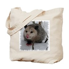 Snow Possum Tote Bag