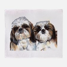 Cute Shih tzu Throw Blanket